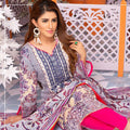 Mughal Bagh Embroidered Lawn 3 Piece Un-Stitched Suit - EKR-178 A - test-store-for-chase-value