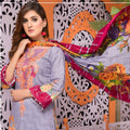 Mughal Bagh Embroidered Lawn 3 Piece Un-Stitched Suit - EKR-171 B - test-store-for-chase-value