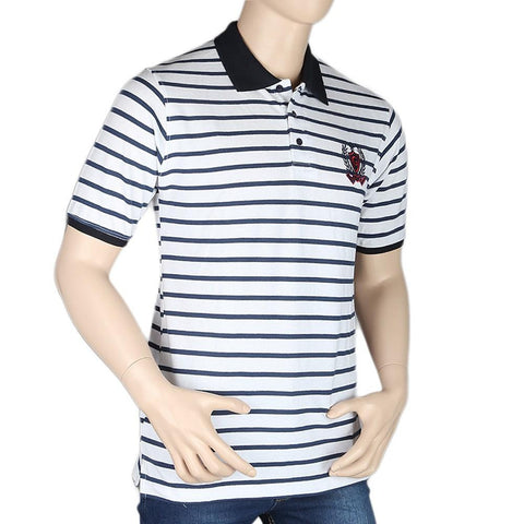Men's Half Sleeves Polo T-Shirt - White - test-store-for-chase-value