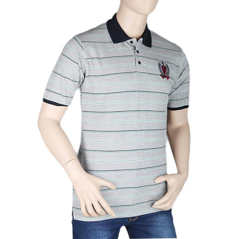 Men's Half Sleeves Polo T-Shirt - Grey - test-store-for-chase-value