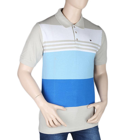 Men's Half Sleeves Polo T-Shirt - Beige - test-store-for-chase-value