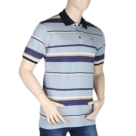 Men's Half Sleeves Polo T-Shirt - Blue - test-store-for-chase-value