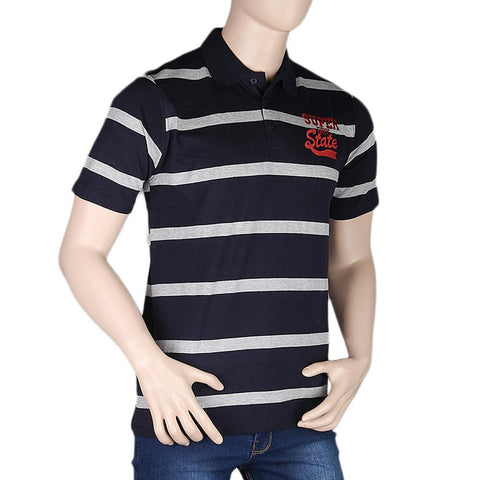 Men's Half Sleeves Polo T-Shirt - Navy Blue - test-store-for-chase-value