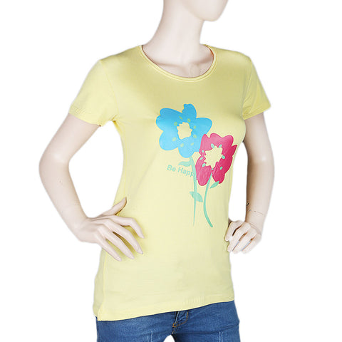 Women's T-Shirt - Yellow - test-store-for-chase-value