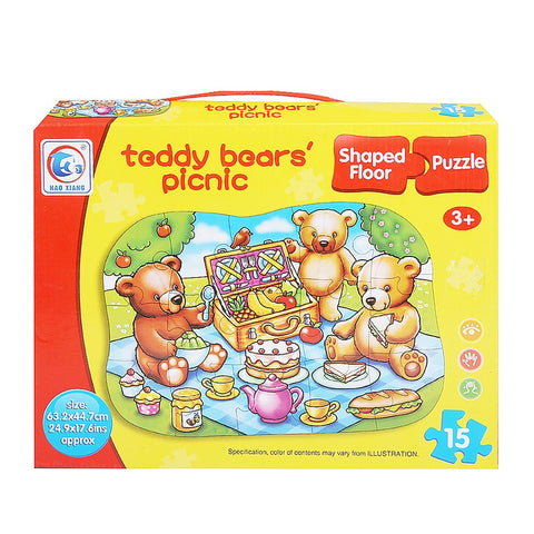 Teddy Bear's Picnic Puzzle 15 Pcs For Kids - test-store-for-chase-value