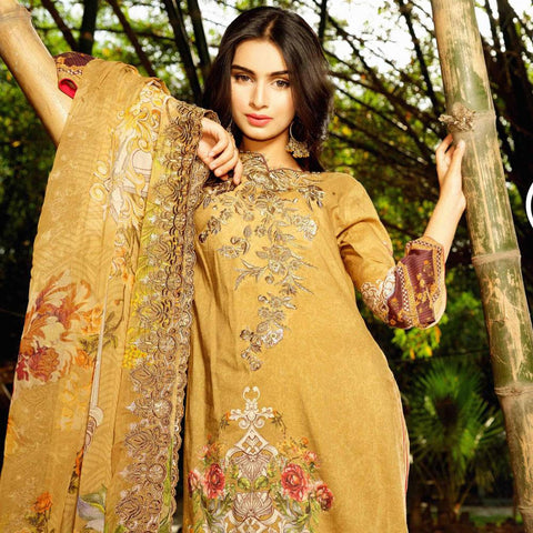 InTo Eternity Embroidered Lawn 3 Piece Un-Stitched Suit - 4573 - test-store-for-chase-value