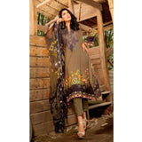 InTo Eternity Embroidered Lawn 3 Piece Un-Stitched Suit - 4576 - test-store-for-chase-value