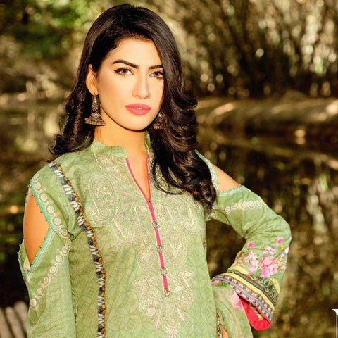 InTo Eternity Embroidered Lawn 3 Piece Un-Stitched Suit - 4579 - test-store-for-chase-value