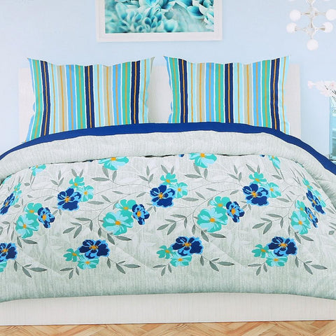 Printed King Size Percale Finish Bed Sheet Set 3 pcs - test-store-for-chase-value
