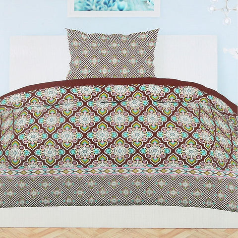 Printed Percale Finish Single Bed Sheet Set 2 pcs - test-store-for-chase-value