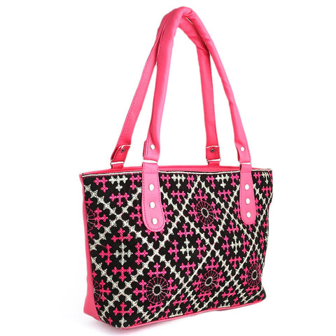 Women's Embroidery Handbag - Pink - test-store-for-chase-value