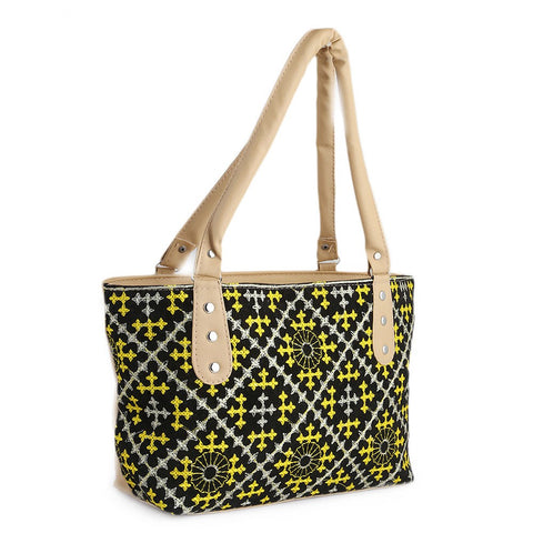 Women's Embroidery Handbag - Yellow - test-store-for-chase-value