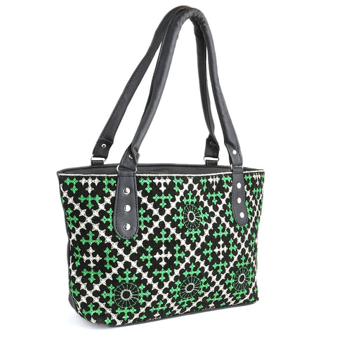 Women's Embroidery Handbag - Green - test-store-for-chase-value