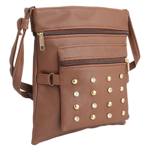 Women's Shoulder Bag (7555) - Dark Brown - test-store-for-chase-value