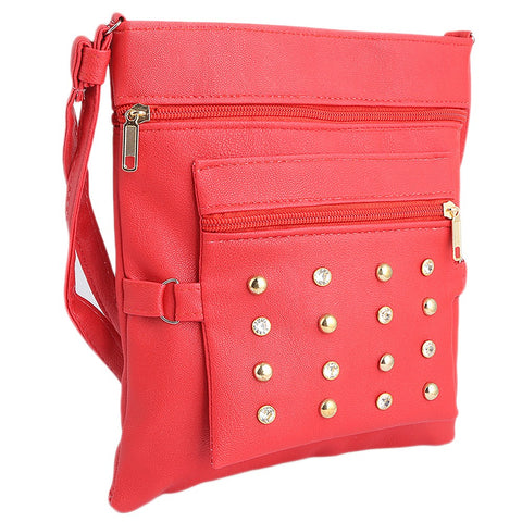Women's Shoulder Bag (7555) - Red - test-store-for-chase-value