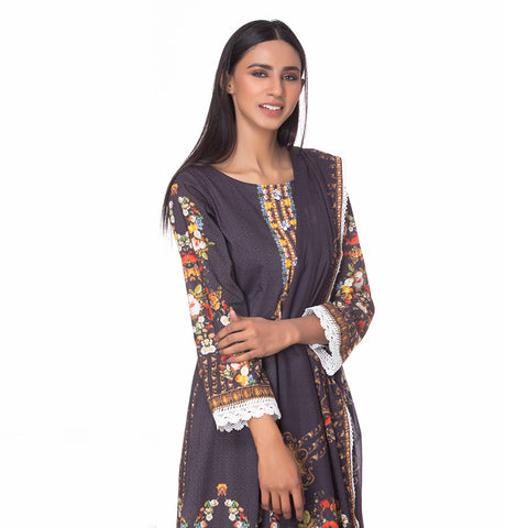 Salina Pop Digital  Printed Lawn 3 Piece Un-Stitched Suit Vol 1 - 01