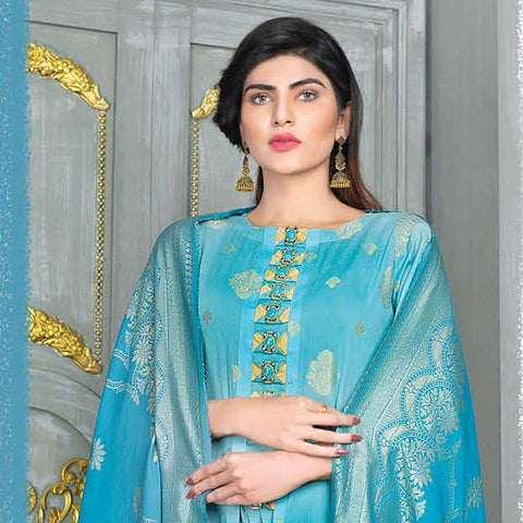 Mahoor Embroidered Broshia Lawn 3 Piece Un-Stitched Suit - 01