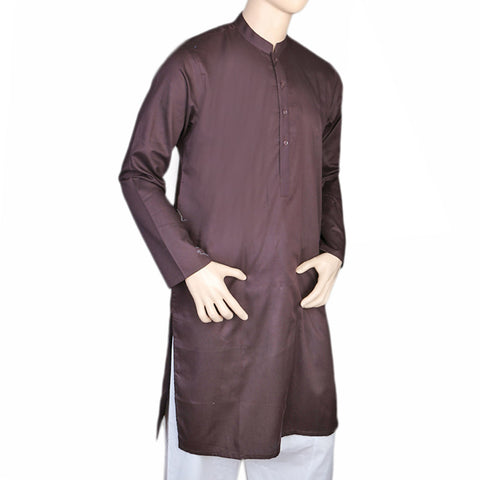 Eminent Trim Fit Kurta For Men - Dark Brown