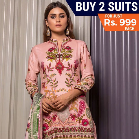 Rangreza Printed Mid Summer Cotton Suit Vol-01 - 19