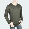 Men's Round Neck Full Sleeves T-Shirt - Green