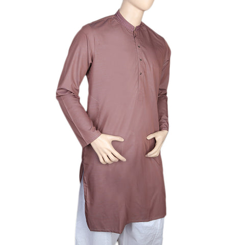 Eminent Embroidered Trim Fit Kurta For Men - Purple