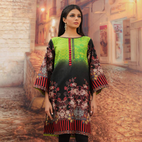 Chase Value Centre Printed Khaddar Un-Stitched Kurti Vol 3 - 01
