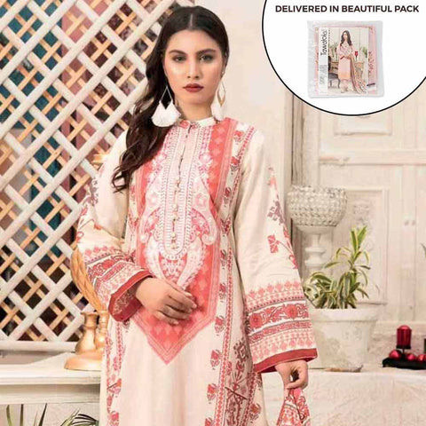 Amna Sohail Summer Galore Embroidered Lawn 3 Piece Un-Stitched Suit - 4459 B