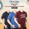 Men's Half Sleeves Printed T-Shirt Pack Of 3 - Multi