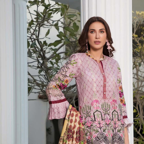 Sahil Luxury Embroidered Festive Lawn 3 Piece  Un-Stitched Suit - B1