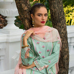 Maira Ahsan Embroidered Chiffon 3 Piece Un-Stitched Suit - 02