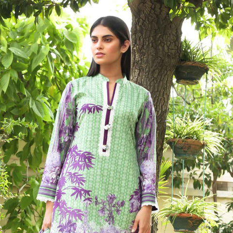 Cotrina Printed Cotton 3 Piece Un-Stitched Suit - 02