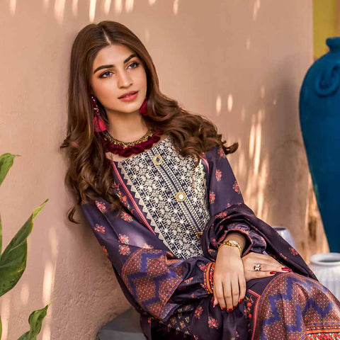 Regalia Digital Printed Embroidered Lawn 3 Piece Un-Stitched Suit Vol 2 - 2