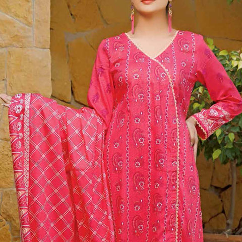 Daman Printed Lawn 3 Piece Un-Stitched Suit Vol 2 - 17 A