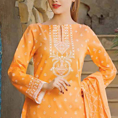 Daman Printed Lawn 3 Piece Un-Stitched Suit Vol 2 - 19 C