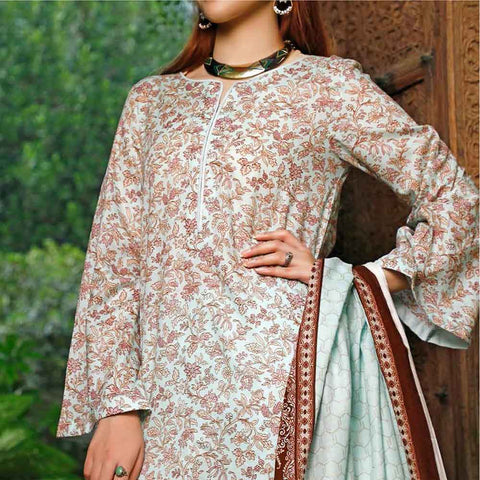 VS Signature Printed Lawn 3 Piece Un-Stitched Suit Vol 1 - 207 B
