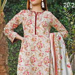 VS Signature Printed Lawn 3 Piece Un-Stitched Suit Vol 1 - 211 A