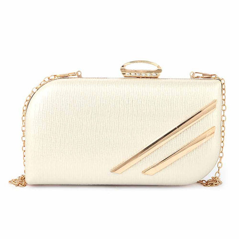 Women's Fancy Clutch (2019) - Gold