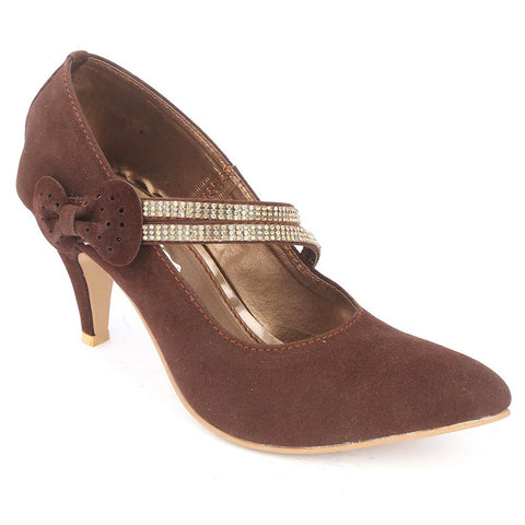 Women's Fancy Heel (201) - Brown