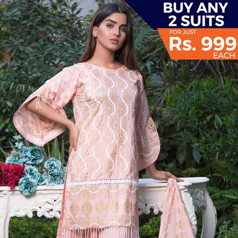 Rangreza Printed Lawn 3 Piece Un-Stitched Suit Vol-09 - ZS 02