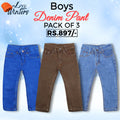 Boys Denim Pant Pack Of 3