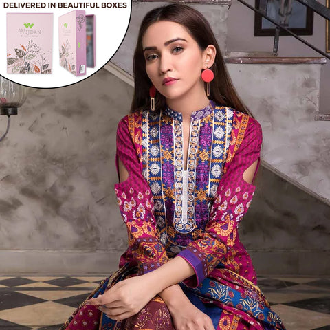 Noor Fatima Embroidered Lawn 3 Piece Un-Stitched Suit - A4