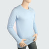 Men's Round Neck Full Sleeves T-Shirt - Sky Blue