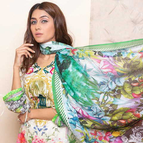 Veena Durrani Embroidered Lawn Suit - 02 - test-store-for-chase-value