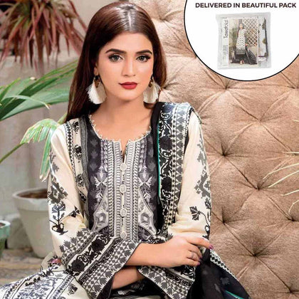 Amna Sohail Summer Galore Embroidered Lawn 3 Piece Un-Stitched Suit - 4459 A