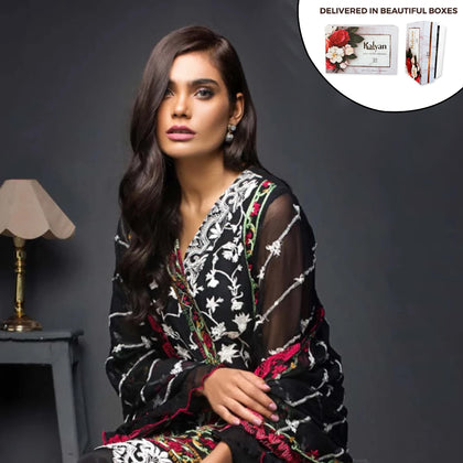Kalyan Chiffon Embroidered 3 Piece Un-Stitched Suit - 09