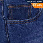 Men's Denim Jeans Pack Of 3 - Multi - test-store-for-chase-value