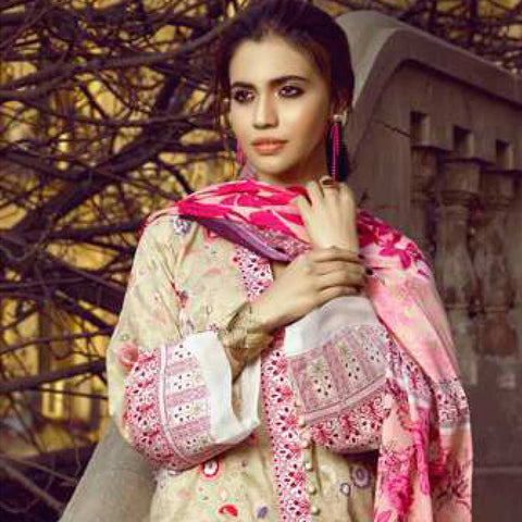 Monsoon Printed Lawn 3 Piece Un-Stitched Suit Vol 1 - 2 A