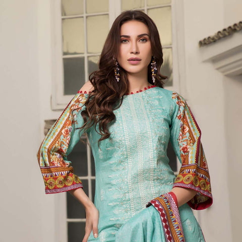 Sahil Luxury Embroidered Festive Lawn 3 Piece  Un-Stitched Suit - A2