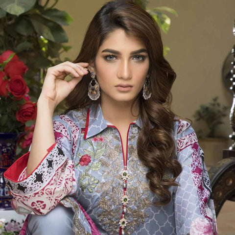Zmaria Embroidered Lawn Un-Stitched Suit - 2A
