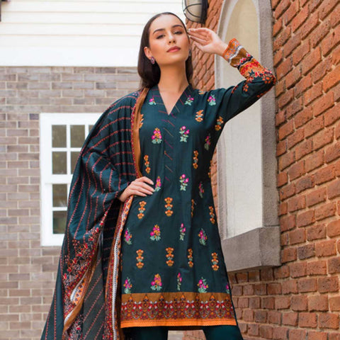 Sahil Embroidered Cotton 3 Pieces Un-Stitched Suit Vol 1 - 2 B